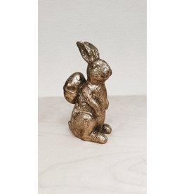 Vanremoortel Konijn met ei op rug  - Goud - 5 x 8 x 13cm