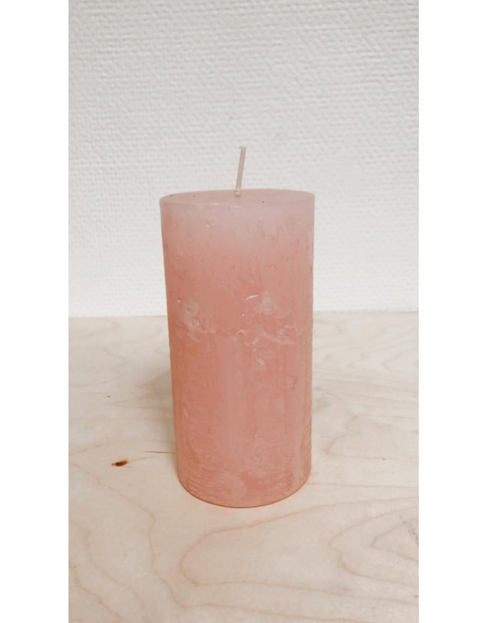 Vanremoortel Blokkaars - Soft pink - Ø 7cm, H 14cm - Brandtijd +/- 69u