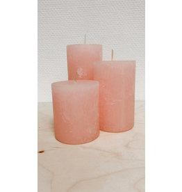 Vanremoortel Blokkaars - Soft pink - Ø 7cm, H 11cm - Brandtijd +/- 51u