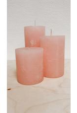 Vanremoortel Blokkaars - Soft pink - Ø 7cm, H 8cm - Brandtijd +/- 34u