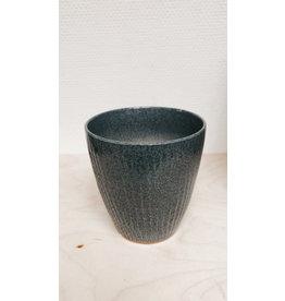 Vanremoortel Bloempot Japon - Zee Blauw - Ø 12cm, H 13cm