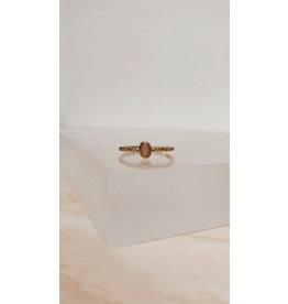 Muja Juma Ring - Oval 4mm met Edelsteen - Zilver verguld
