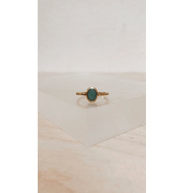 Muja Juma Ring - Ovaal 9mm met Edelsteen - Zilver verguld
