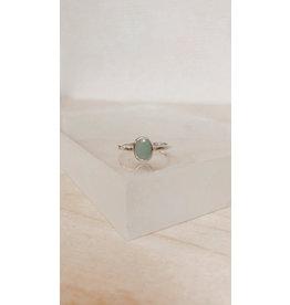 Muja Juma Ring - Ovaal 9mm met Edelsteen - Zilver