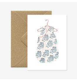ATWS Wenskaart - Congrats baby girl  - Dubbele kaart + Envelop - 11,5 x 16,5 - Blanco