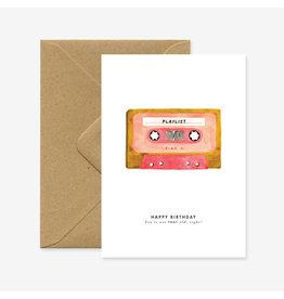 ATWS Wenskaart - Tape - Dubbele kaart + Envelop - 11,5 x 16,5 - Blanco