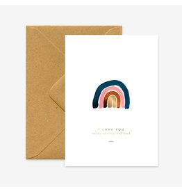 ATWS Wenskaart - To the rainbow - Dubbele kaart + Envelop - 11,5 x 16,5 - Blanco