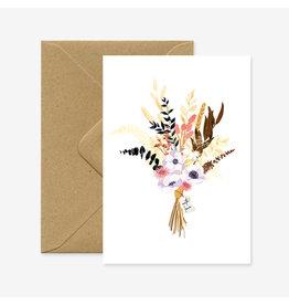 ATWS Wenskaart - Wild Bouquet With Love - Dubbele kaart + Envelop - 11,5 x 16,5 - Blanco