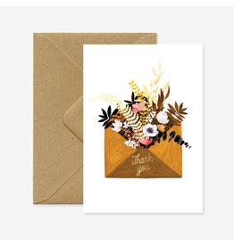ATWS Wenskaart - Flowers Envelope  - Dubbele kaart + Envelop - 11,5 x 16,5 - Blanco