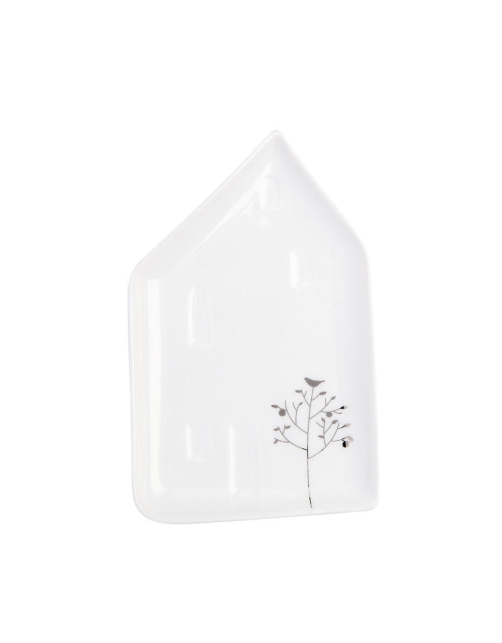 Raeder Geluksbordje + Gedichtje - Huisje + Er Huist een schoonheid - 9,5 x 6 x 1 cm