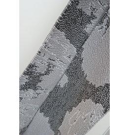 Violet Nys Sjaal - Wit, Lichtgrijs, Donkergrijs - Acryl - 17 x 145 cm
