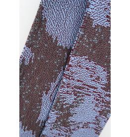 Violet Nys Sjaal - Lichtblauw, Donkergrijs, Kastanje - Acryl - 17 x 145 cm
