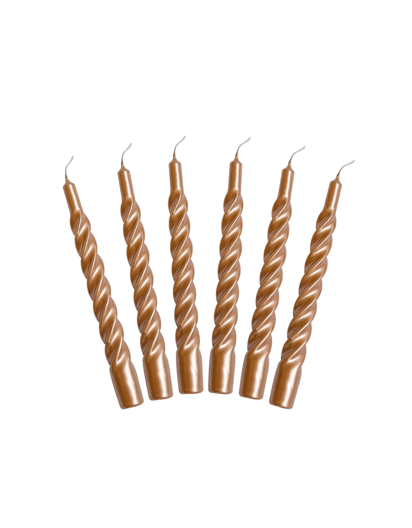 Kunst industrien Kaars met een twist - Rose gold - 2st - Ø 2,2 x H 21cm