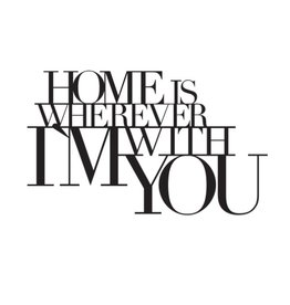 Raeder Wandsticker - Home is wherever I'm with you