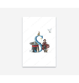 Wishingwell Letterkaart ' S ' - Toverstaf - Foto 20 x 30 - met passe partout 30 x 40