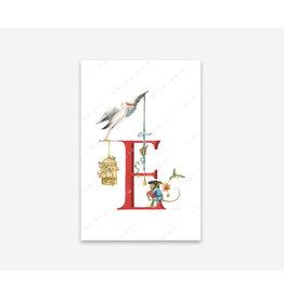 Wishingwell Letterkaart ' E ' - Für Elise - Foto 20 x 30 - Passe partou 30 x 40