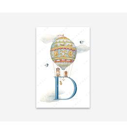 Wishingwell Letterkaart 'D ' - Dogs - Foto 20 x 30 - met passe partout 30 x 40