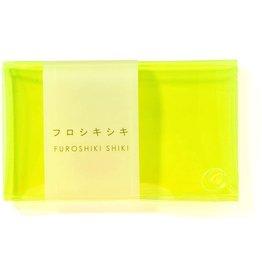 Furoshiki shiki Neon wallet - Fluo geel - 6,5 x 10,5 cm