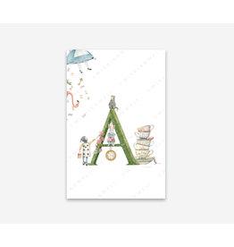 Wishingwell Letterkaart  'A' - Alice in wonderland - Foto 20 x 30 - met passe partout 30 x 40 - met kader 33 x 43