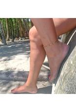 Label Kiki Enkelbandje - Gouden Belletjes - RVS - 33cm + 3cm verlengketting