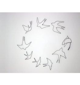 Aline Campana Ijzerdraad vogel - Zwaluwen