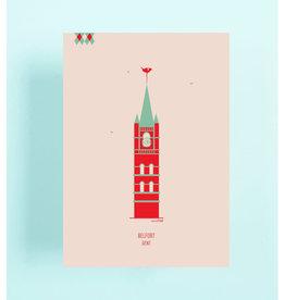 mmmMar Wenskaart  - Belfort - Postkaart met envelop