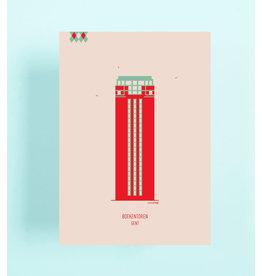 mmmMar Wenskaart  - Boekentoren - Postkaart met envelop