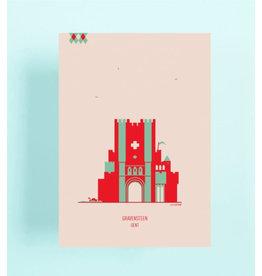 mmmMar Wenskaart  - Gravensteen - Postkaart met envelop
