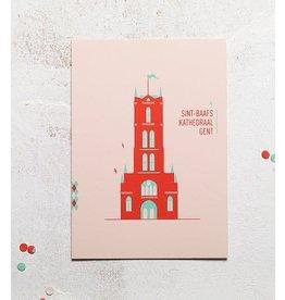 mmmMar Wenskaart  - Sint-Baafskathedraal - Postkaart met envelop