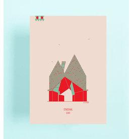 mmmMar Wenskaart  - Stadshal - Postkaart met envelop