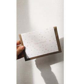 Eigen Kweek Wenskaart - Hartjes, Alles komt goed - Dubbele kaart - enveloppe