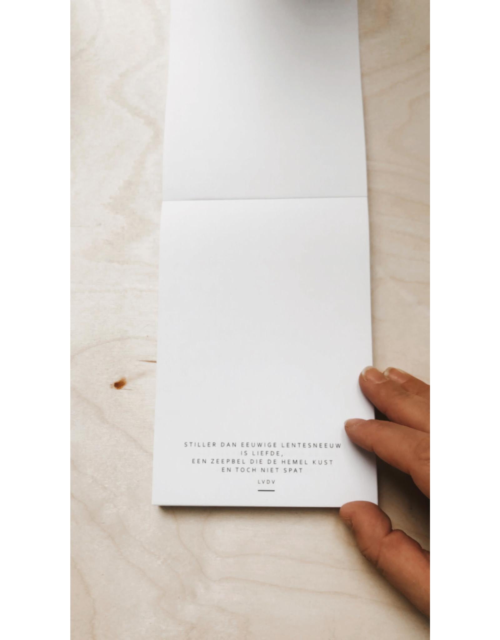 Mus in een Plas Blocnote - 4 Verschillende poëzietjes - 100 Bladen offset