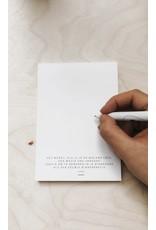 Eigen Kweek Blocnote - 4 Verschillende poëzietjes - 100 Bladen offset