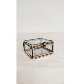Muja Juma Glazen doosje - Brass - 4 x 4 x 2