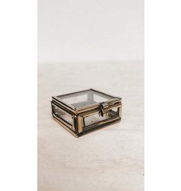 Muja Juma Glazen doosje - Brass - 3 x 3 x 1,5