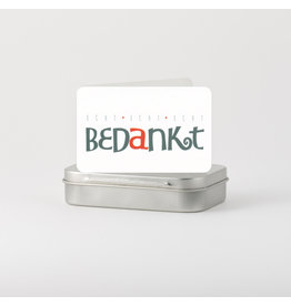 Symposion Kadoosje met klein kaartje - Echt Bedankt! - 9,50 x 6 x 2 cm