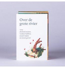 symposion Troostboekje 'Over de grote rivier' - Vouwboekje 15cm x 1m ( Open)