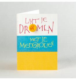 symposion Wenskaart - Laat je dromen - Dubbelkaart Met balloon  + enveloppe