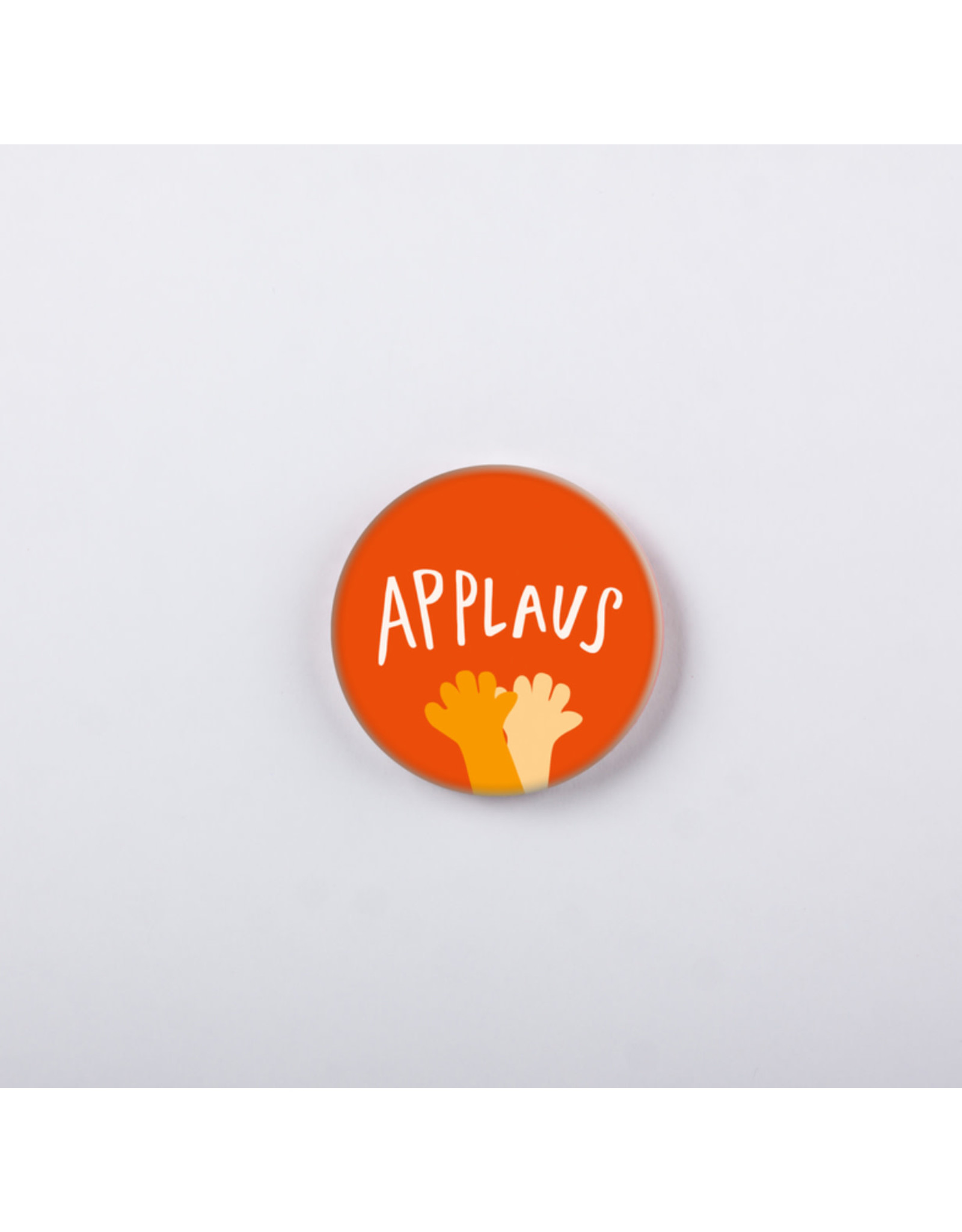 symposion Button - Applaus - Oranje - Ø 3,7 cm