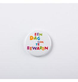 symposion Button - Een dag op te bewaren - Ø 3,7 cm
