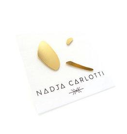Nadja Carlotti Oorstud Trio - Messing Verguld - Klein 0,5 x 0,3 cm / Medium 1,5 x 0,2 cm / Groot 0,8 x 1,7 cm