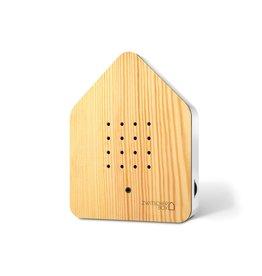 Zwitscherbox - Relaxounds Zwitscherbox Den - Geluiden: vogelgezang van de Merel - Geluidsduur: 2 min - Geactiveerd door een bewegingsdetector - 3 AA-batterijen inbegrepen - B 11 x H 14,5 x D 3,5 cm - Ideaal voor: badkamer, gastentoilet, entree, gang, kantoor,...