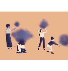 Liese Aerts Wenskaart - Samen met ons hoofd in de wolken - postkaart met envelop A6