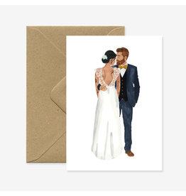 ATWS Wenskaart - Married lovers  - Dubbele kaart + Envelop - 11,5 x 16,5 - Blanco