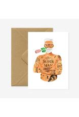 ATWS Wenskaart - Superman Prothea  - Dubbele kaart + Envelop - 11,5 x 16,5 - Blanco