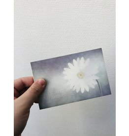 Jeske Wenskaart - Pakketje rouwkaarten - 4 rouwkaarten + enveloppe