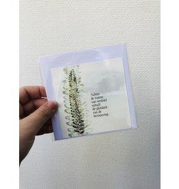 Jeske Wenskaart - Achter de tranen van verdriet - Postkaart + enveloppe - 10 x 10cm