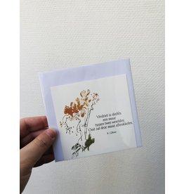 Jeske Wenskaart - Verdriet is slechts een muur - Postkaart + enveloppe - 10 x 10cm