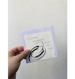 Jeske Wenskaart - In de schemering van de herinnering - Postkaart + enveloppe - 10 x 10cm