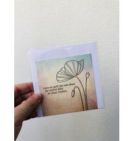 Jeske Wenskaart - Laten we zacht zijn voor elkaar - Postkaart + enveloppe - 10 x 10cm
